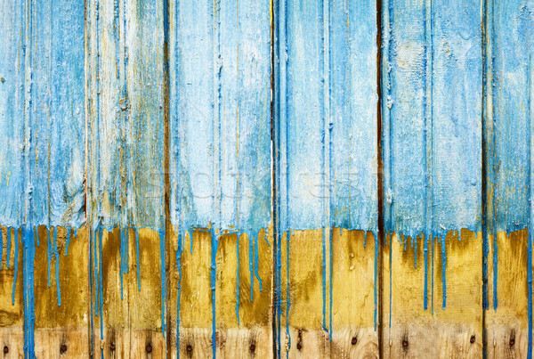 Rotten boards with old paint background Stock photo © pzaxe