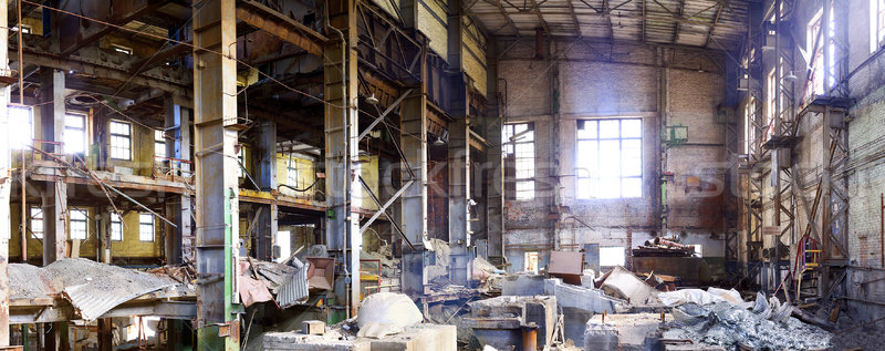 Ruins of the old cement works Stock photo © pzaxe
