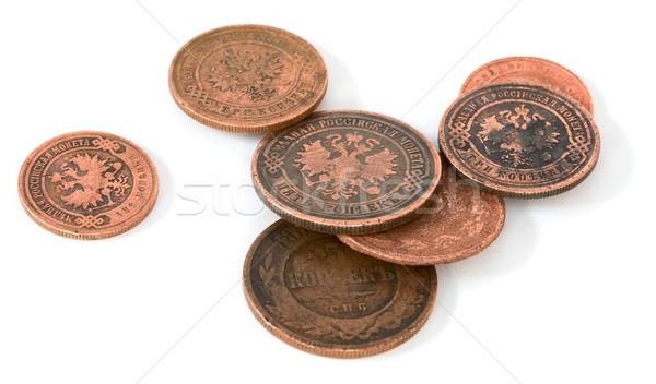 Antique bronze Russian coin Stock photo © pzaxe