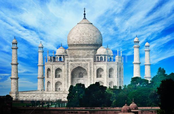 India Taj Mahal híres márvány mauzóleum épület Stock fotó © pzaxe