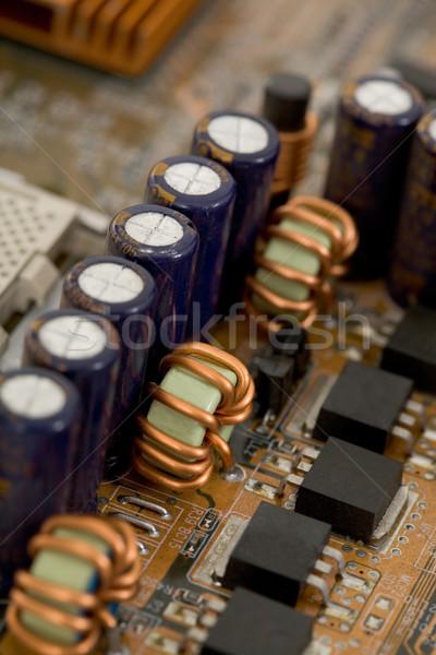 électronique composants circuit contact bleu Photo stock © pzaxe