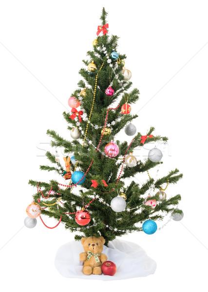 Decorated  christmas tree Stock photo © pzaxe