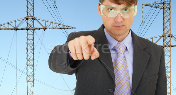 Safety engineer in electrical networks Stock photo © pzaxe
