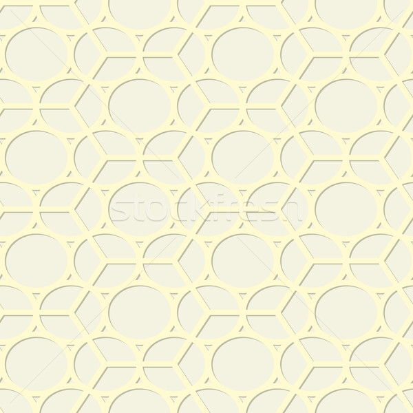 Geometric abstract vector yellow hexagons texture Stock photo © pzaxe
