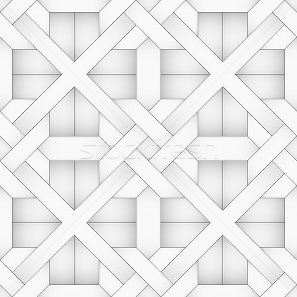 Vector abstract vloer meetkundig naadloos halftoon Stockfoto © pzaxe