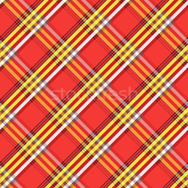 Fabric with diagonal lines checkered pattern. Repeat tribal maas Stock photo © pzaxe