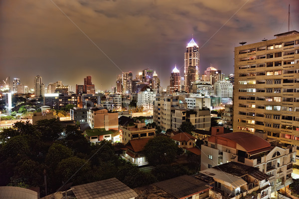 風景 1泊 大都市 ライト 電気 ストックフォト © pzaxe