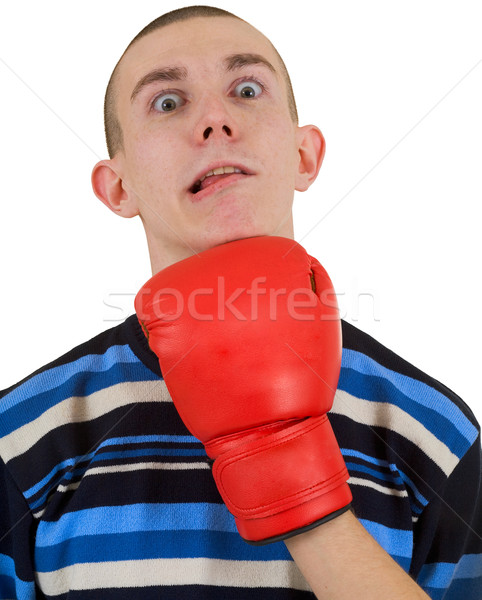 Man taking a punch Stock photo © pzaxe