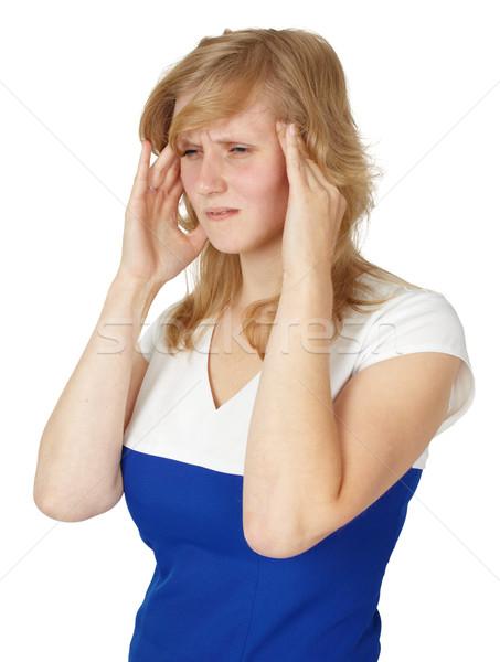 Woman suffering from headache Stock photo © pzaxe
