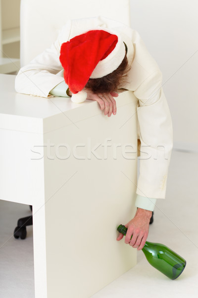 Drunk businessman during celebrating of new year Stock photo © pzaxe