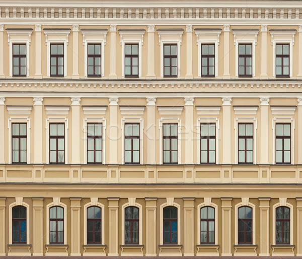 Neoclassic architecture wall with windows vintage background Stock photo © pzaxe