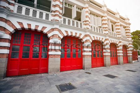 Colorful Facade of Fire Station in Singapore Stock photo © pzaxe