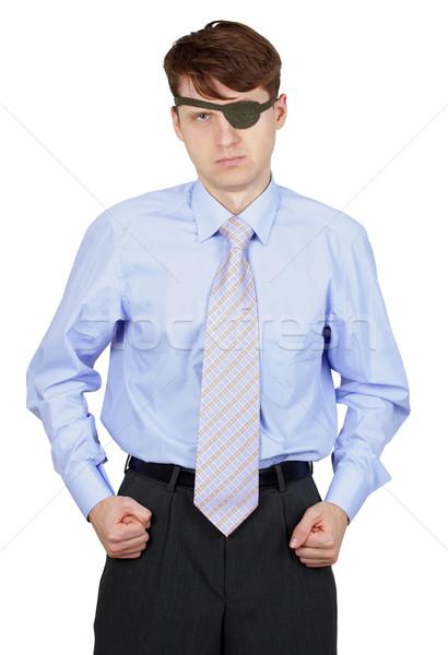 Straszny człowiek odizolowany biały działalności młodych Zdjęcia stock © pzaxe