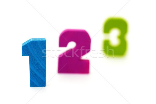 Figures 1 2 3 on white background Stock photo © pzaxe