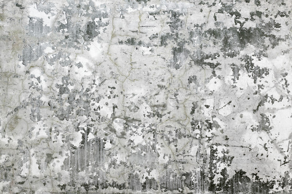 Gri perete fisuri beton acoperit Imagine de stoc © pzaxe
