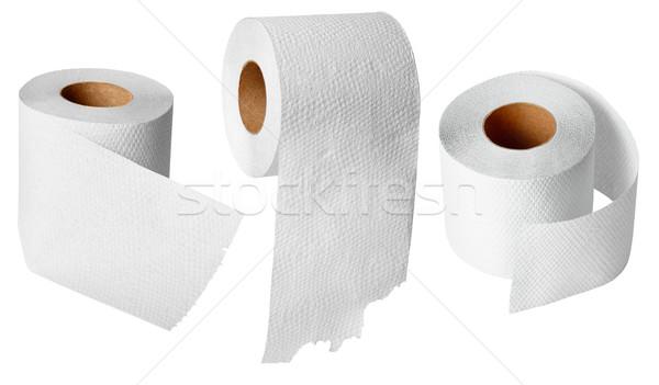 Carta igienica bianco isolato texture colore Foto d'archivio © pzaxe