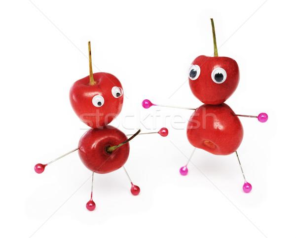 Szórakoztató édes cseresznye kettő kicsi férfiak Stock fotó © pzaxe