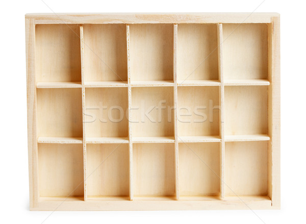 Small wooden box with cells Stock photo © pzaxe