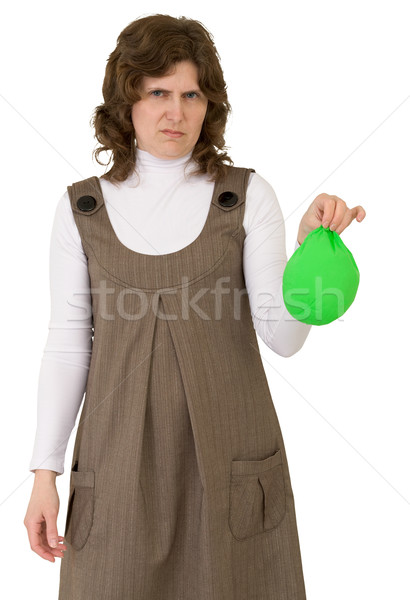 Young woman with blow off balloon Stock photo © pzaxe