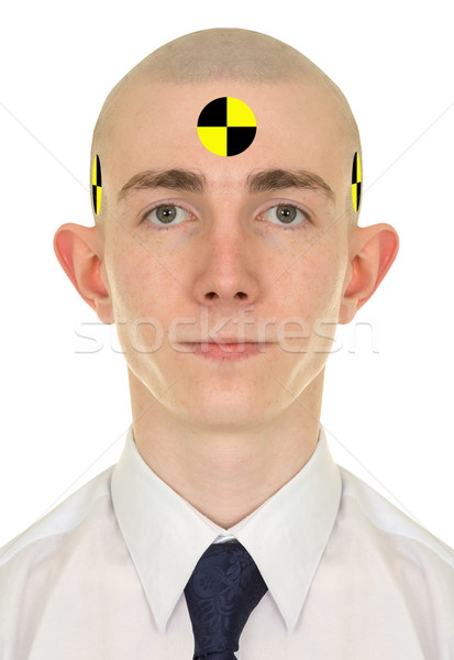Portrait of young man - crash dummy Stock photo © pzaxe