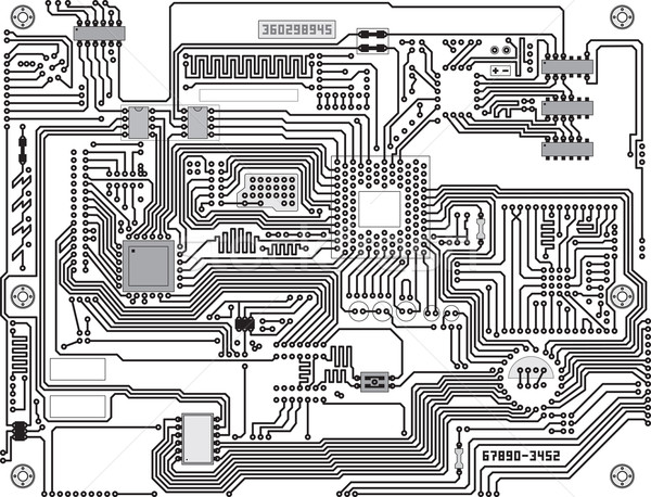 Vector circuitry - industrial high-tech background Stock photo © pzaxe