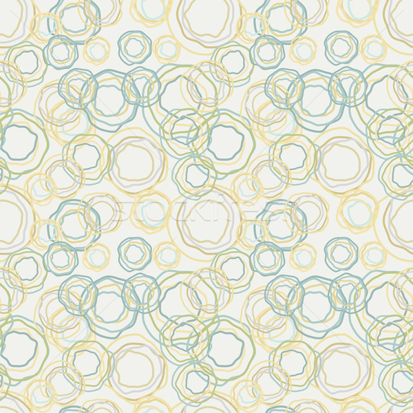 Vintage color curved circles pattern - seamless background Stock photo © pzaxe