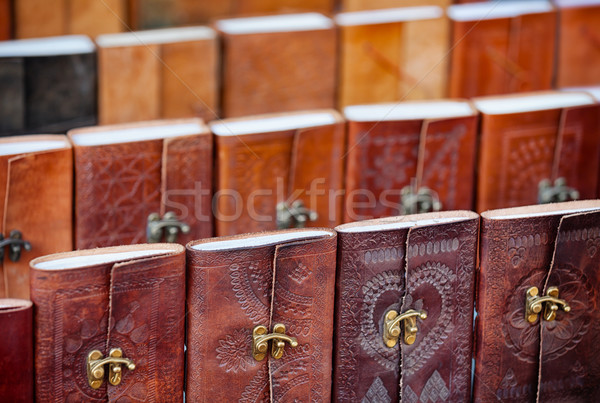 Leather-bound Souvenir Notebooks for Sale in Udaipur, India Stock photo © pzaxe