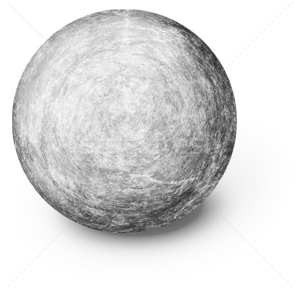 Perfectly round ball shaped stone on white Stock photo © pzaxe
