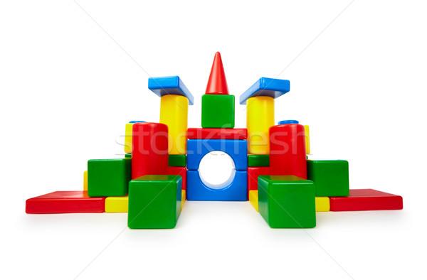 Kolorowy zabawki cegieł jak zamek Zdjęcia stock © pzaxe
