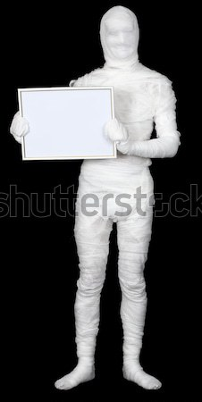 Mummy with blank frame Stock photo © pzaxe