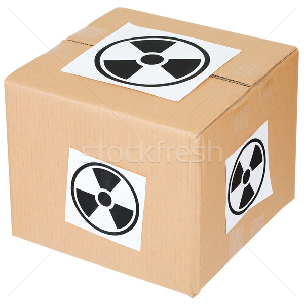 Cardboard box with a radiation hazard  Stock photo © pzaxe