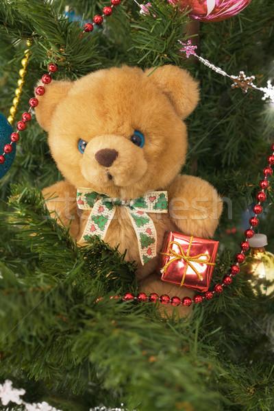 Peluche jouet ours hiver or cadeau Photo stock © pzaxe