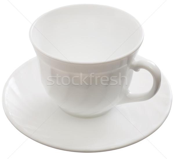 Copo pires branco chá limpar Foto stock © pzaxe