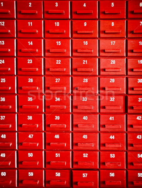 Numbered red wooden cases Stock photo © pzaxe