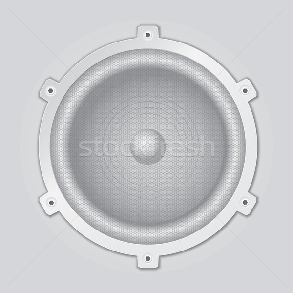 Silver speaker closeup - vector Stock photo © pzaxe