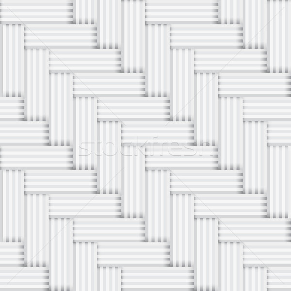 Vector seamless square white and black pattern - vintage parquet Stock photo © pzaxe