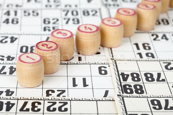 Bingo witte kaarten ontwerp achtergrond teken Stockfoto © pzaxe