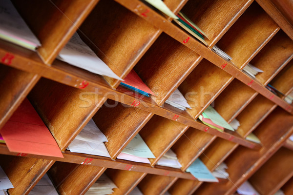 Wooden shelf for a Buddhist divination Stock photo © pzaxe