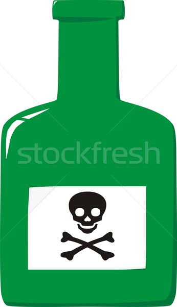 Bottle with poison and label a skull and crossbones Stock photo © pzaxe