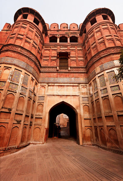 Red Agra ford main entrance, India Stock photo © pzaxe