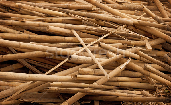 Debris - bamboo sticks in heap Stock photo © pzaxe