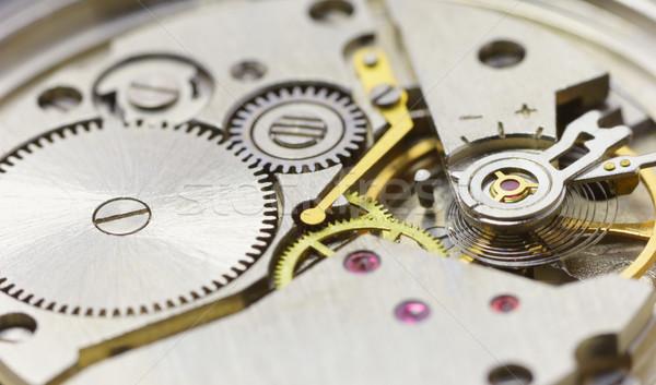 Tiny clockwork photographed close up Stock photo © pzaxe