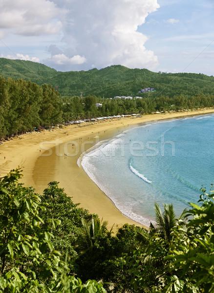 Tailândia phuket praia topo ver céu Foto stock © pzaxe