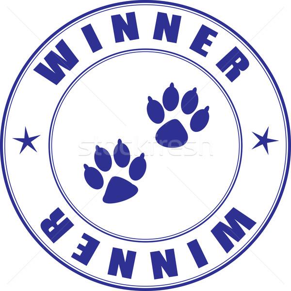 Stempel diploma winnaar huisdieren tentoonstelling hond Stockfoto © pzaxe