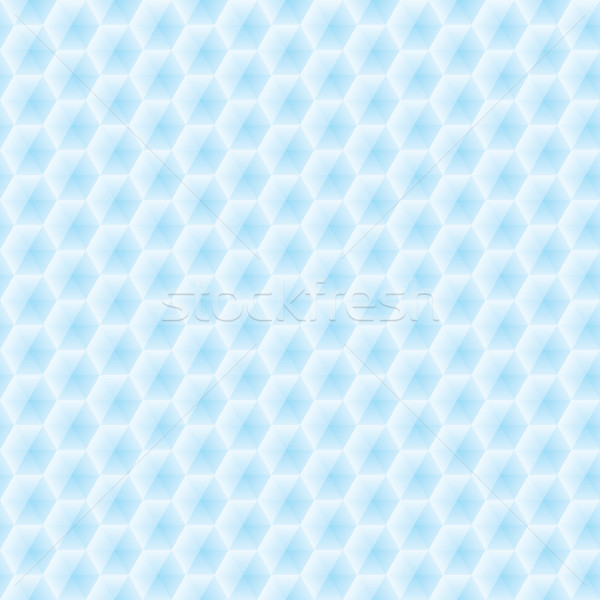 Stock photo: Abstract vector seamless texture - light blue hexagons