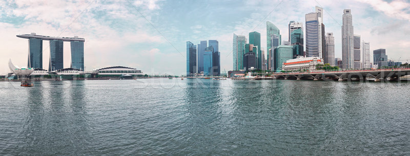 Singapore skyline - modern skyscrapers from river Stock photo © pzaxe