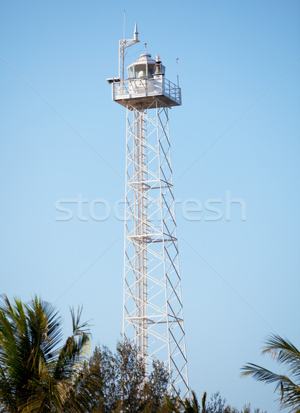 Modern lighthouse on Gili island, Indonesia Stock photo © pzaxe
