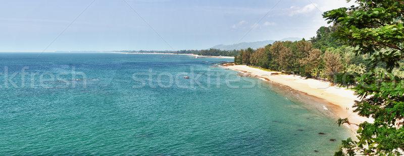 Panorama tropikal plaj Tayland phuket panoramik görmek Stok fotoğraf © pzaxe