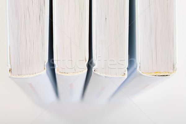 Backs of four books Stock photo © pzaxe