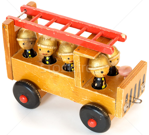 Oude speelgoed oude houten speelgoed achtergrond Rood Stockfoto © pzaxe